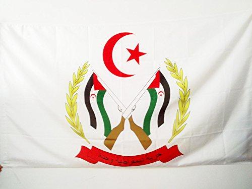 AZ FLAG Bandera de Las Armas Frente POLISARIO Sahara Occidental 150x90cm para Palo - Bandera SAHARAUI 90 x 150 cm