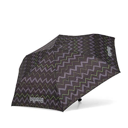 ergobag Regenschirm Schultaschenschirm für Kinder, extra leicht mit Tasche, Ø90cm - Drunter und DrüBär, Schwarz