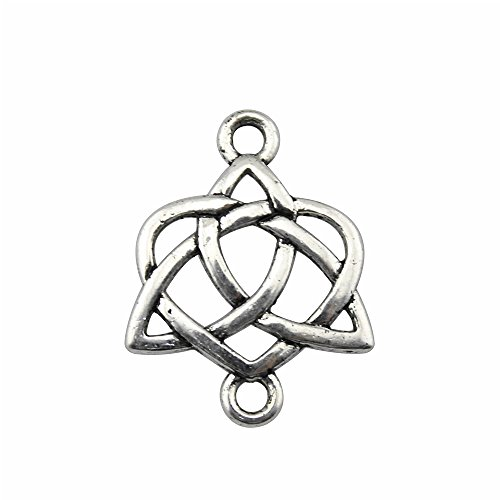 NEWME 35pcs Celtic Knot Symbols Charms Pendant for DIY Jewelry Wholesale Crafting Bracelet and Necklace Making