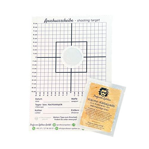 Professor Optiken 10er-Set Wärme-Klebepads (Wärmebild-Pads) inklusive Anschussscheiben, zum Kalibrieren und Einstellen von Wärmebildgeräten, Wärmebildkameras und Wärmebild-Vorsatzgeräten (Jagd)