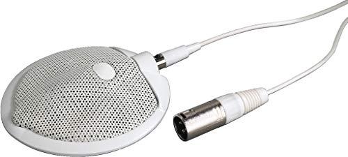 MONACOR ECM-302B/WS grensvlakmicrofoon, 6-m aansluitkabel, wit