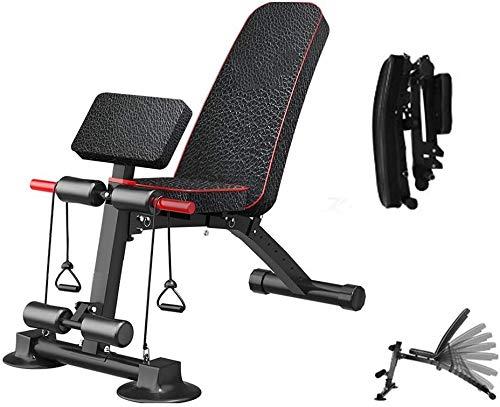 Cnley Entrenamiento ajustable Banco de mancuernas Foldable Sit-ups Fitness Equipo de fitness, Taburete de mancuernas multifunción, Placa de músculo abdominal, Ayuda de ejercicios Banco de ejercicio de
