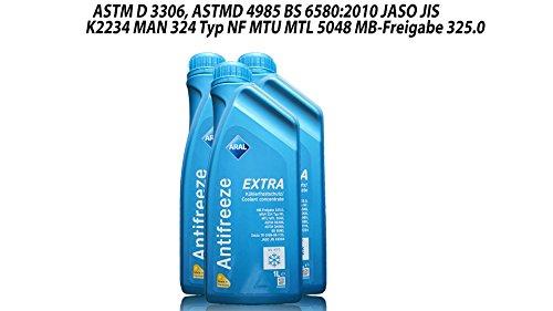 ARAL Antifreeze Extra Kühlerfrostschutz -3 x 1 Liter