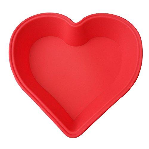 JUNGEN Moule Silicone en Forme Coeur pour Gateau Chocolat Patisserie 1pcs (22 * 25 * 4cm, Couleur aléatoire)