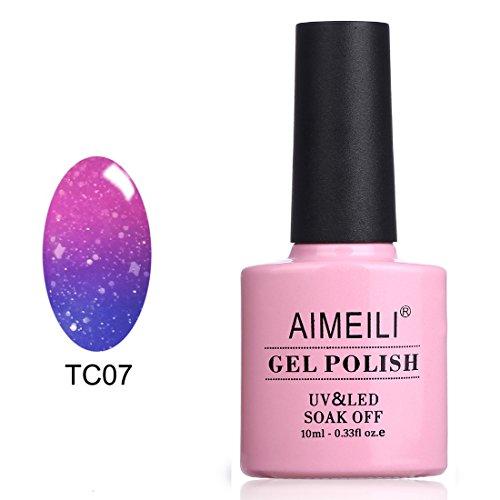 AIMEILI UV LED Nagellack Thermo Gellack Temperatur Farbwechsel Gel Nagellack Glitzer Gel Polish -...