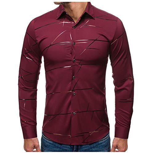 MUMU-001 Feitong mode mannen hemd gestempeld lange mouwen shirt bedrukt blouse voor business man camisas masculina