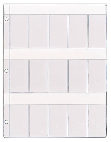 StoreSMART - Medical Glass Slide Holder - 15 Pockets - Clear Plastic - 100-Pack - RSL182-100