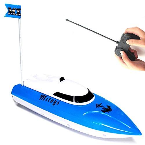 Ydq Barca RC, FPVRC 2.4GHz 4CH 10km/H Imbarcazioni Barca Telecomandata Giocattolo,Radio Control Racing Boat RTR Nave Elettrica RC Toy Regalo per Bambini