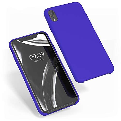 kwmobile Cover Compatibile con Apple iPhone XR - Custodia in Silicone TPU - Back Case Protezione Cellulare Blu Elettrico