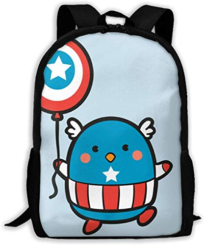 Captain Mascot Classic Basic - Mochila de viaje para escuela resistente al agua