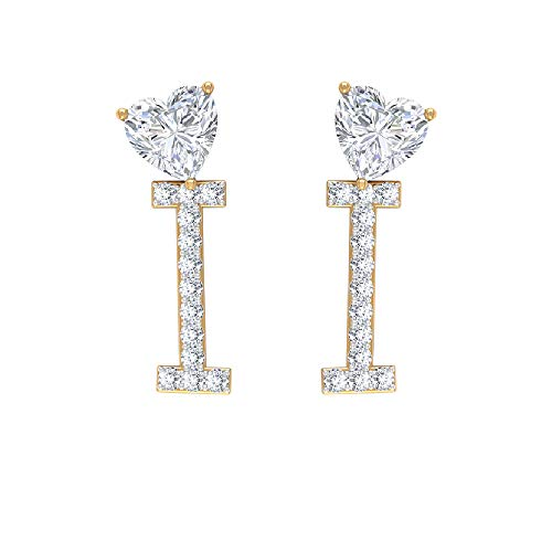 Rosec Jewels 14 quilates oro amarillo heart-shape round-brilliant-shape H-I Diamond