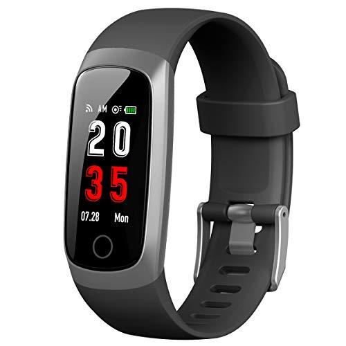 iPosible Fitness Armband mit Pulsmesser, Fitness Tracker Blutdruckmessung Schrittzähler Uhr Wasserdicht IP67 Pulsuhr Aktivitätstracker Herzfrequenz Stoppuhr Schlafmonitor GPS für Herren Damen Kinder