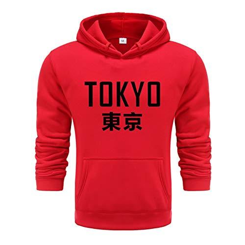 NING456 Japan Harajuku Hoodies Tokyo City Druck Pullover Sweatshirt Hip Hop Streetwear 3XL Plus Size Kleidung