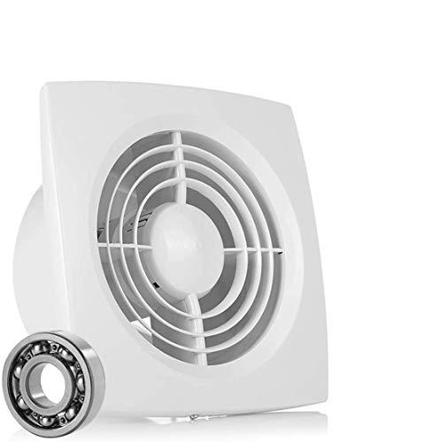 HG POWER - Extractor de baño (150 mm, con interruptor de empuje, ventilador en línea frontal, silencioso, para baño y cocina)
