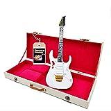 Mini Guitar Steve Vai ibanez JEM7V réplica Model + Hard Case Box miniatura a escala 1:4 Guitarra miniatura con funda de colección gadget Rock memorabilia