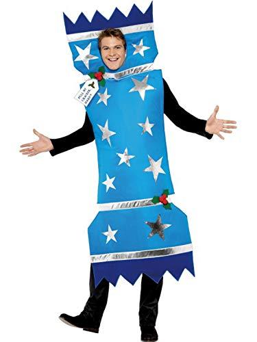 costumebakery - Herren Männer Kostüm Knallbonbons Bonbons Geschenk, Sugar Sweets Present Gift, perfekt für Weihnachten Karneval und Fasching, M, Blau
