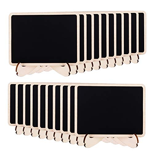Amazon Basics - Lavagnette in legno con cavalletti di supporto, 20 pezzi