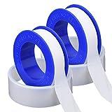 2 pezzi nastro filo adesivo ptfe sigillo nastro sigillante tubo per idraulici mestiere d'idraulico, 1/2 pollici