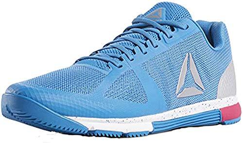 Reebok Mens Crossfit Speed Tr 2.0 Cross-Trainer Shoe (9.5 M US, Blue/White/Silver/Rose)