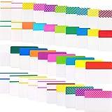 1200 Piezas Fichas de Índice de Archivos de 1 Pulgada 2 Pulgadas Banderas Adhesivas de Escribir para Etiquetar y Organizar Documentos, Papeles, Archivo, Libro, Carpeta