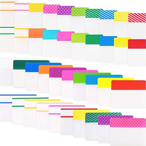 1200 Stücke Datei Index Tabs Klebrig Beschreibbare Flaggen zum Beschriften und Organisieren von Dokumenten, Papieren, Einreichung, Buch, Ordner (1 Zoll und 2 Zoll, 1200 Stücke)
