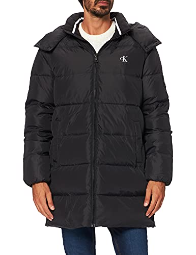 cappotto uomo calvin klein Calvin Klein Jeans Ess Long Hooded Down Jacket Piumino Lungo