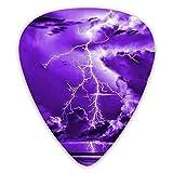 Púas de guitarra Storm Clouds and Lightning 12 púas de ukelele, incluidas 0,46 Mm, 0,71 Mm, 0,96 Mm Guitarra acústica