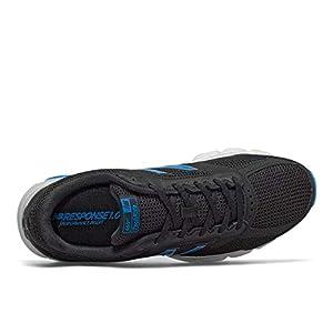 New Balance Men's 460 V2 Running Shoe, Black/Vision Blue, 11 M US