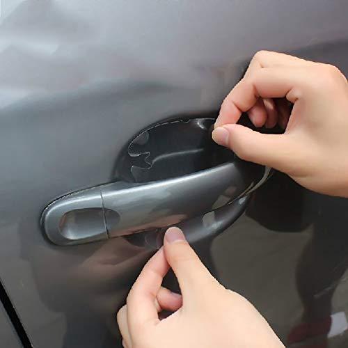 Leoboone Autoaufkleber Türschutzfolie Griff Invisible Auto Scratches Auto Shakes Auto-Schutz-Film Griff