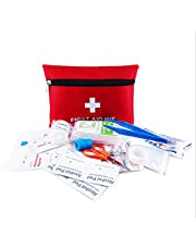 Portable First Aid Kit Pouch with 13 Pieces, Waterproof Lightweight Small Emergency Bag Survival Kit for Emergencies at Home, Outdoors, Travel, Car,Camping, Workplace, Hiking & Survival