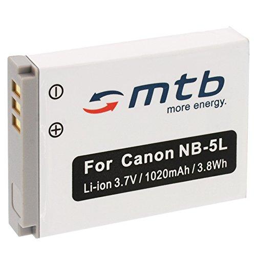 Ersatz-Akku NB-5L für Canon PowerShot SX200 is, SX210 is, SX220 HS, SX230 HS. (Siehe Liste)