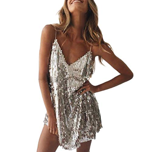 showsing-vrouwen kleding Womens Sexy Pailletten V-hals Mouwloos Jurk Dames Sparkle Bodycon Party Cocktail Midi Jurk