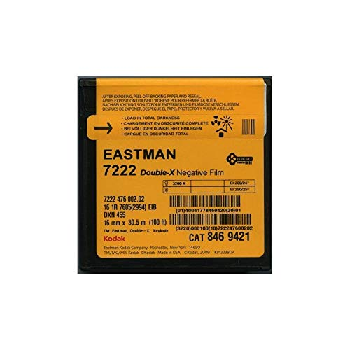 Kodak 7222 Double X Negativ, 16 mm, Schwarz / Weiß, 33 m