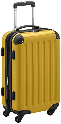 HAUPTSTADTKOFFER - Alex- Carry on luggage On-Board Suitcase Bag Hardside Spinner Trolley 4 Wheel Expandable, 55cm, yellow