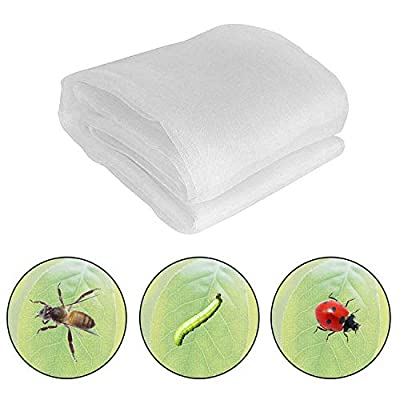 hulaquan 33Ft x 10Ft Mosquito Bug Insect Bird Net Barrier Hunting Blind Garden Netting for Protect Plant Fruits Flower from Insect Bird Eating (White, 3 m x 10 m)