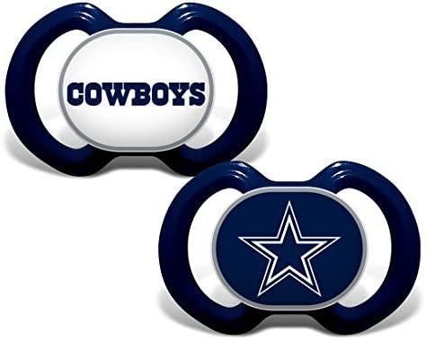 MasterPieces Baby Fanatic NFL Dallas Cowboys 2 Pack Pacifiers One Size Team Color product image