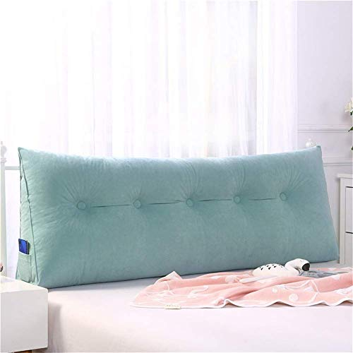 Best Bargain SZDL Reading Pillow Headboard Pillow Solid Color Plush Cushion Triangular Wedge Reading...
