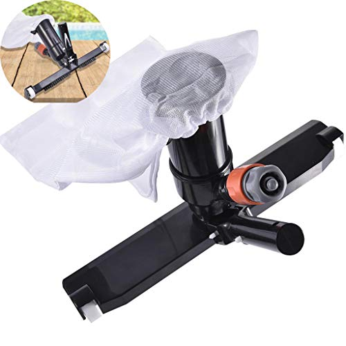 """ZERIRA 14"""" Swimming Pool Vacuum Head Kit with Bag Brush and EZ Clip Handle Vacuum Cleaner for Pool Spa Pond Jacuzzi Tub Cleaning Supplies and Accessories (Black - Not Pole)"""