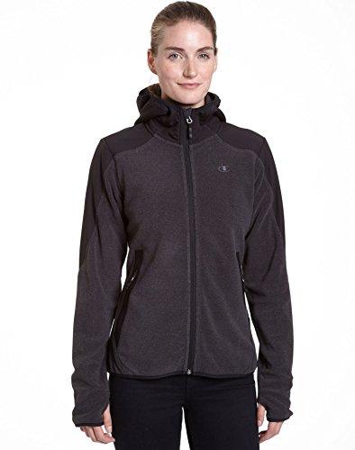 Champion Damen Textured Fleece Jacke mit Kapuze - grau - Groß