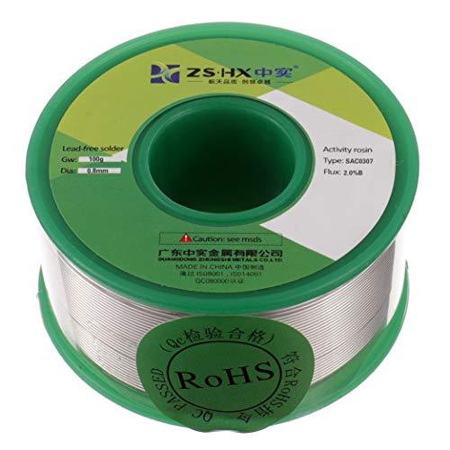 ZSHX Fil de soudure sans plomb Sn99% Ag0.3% Cu0.7% Colophane fil de soudure pour la soudure électrique (0.8mm 100g)