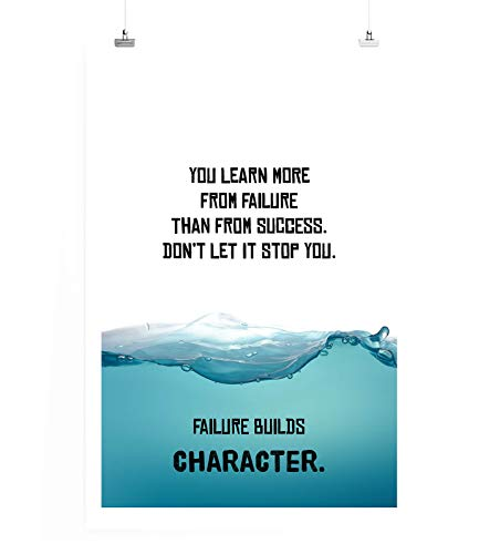 Paul Sinus Art Poster in 60x90cm Du lernst mehr aus Misserfolg als aus Erfolg. Lass Dich Nicht stoppen.