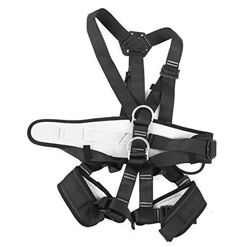 Cinturón de Seguridad para montañismo con Costura de precisión, Larga Vida útil, diseño Desmontable, cinturón de Seguridad para Todo el Cuerpo, Rosca Cerrada para Escalada en Roca para