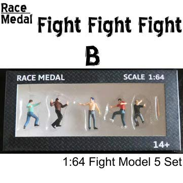 ExcLent Rennmedaille 1:64 Figuren Diorama Outdoor Kampf Baseballschläger Szene Charakter Modell - B