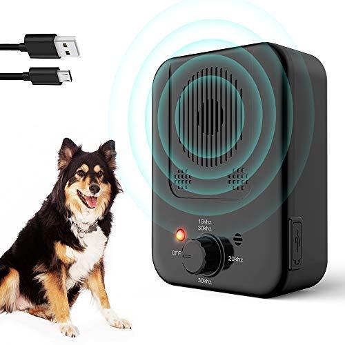 Bark Control Device - Mini Anti Barking Device Outdoor Ultrasonic Dog Sonic Dog Bark Stop Repellent Anti Bark Deterrents Silencer Devices USB...