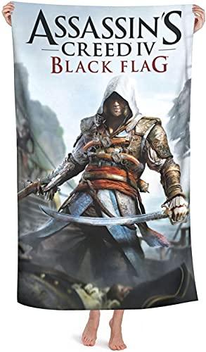 XBBAO Assassin's Creed Toallas de playa, impresión 3D, juego de aventura temático, adecuado para baño familiar, natación en el mar (Assassin's5, 80 cm x 130 cm)