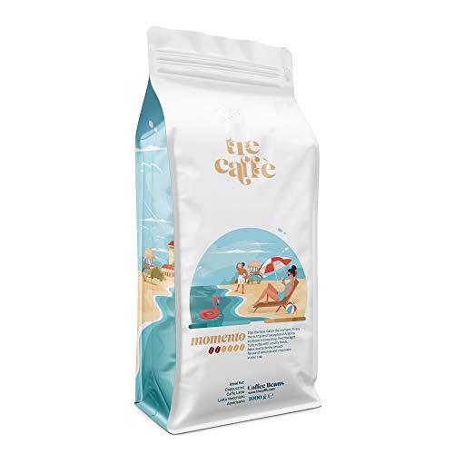 Kawa ziarnista TreCoffe 1kg. Doskonały zapach i aromat. Nadająca się do wszystkich ekspresów i filtrów. 1000 gram cudownego smaku i energi. (Momento)