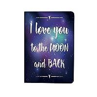 私はあなたを愛し お洒落 2020モデル iPad 10.9ケース iPad Air4ケース 私は月と背中のタイポグラフィ 全保護ケース 超軽量 薄型 オートスリープ機能 ダークパープルホワイトにあなたを愛して宇宙背景