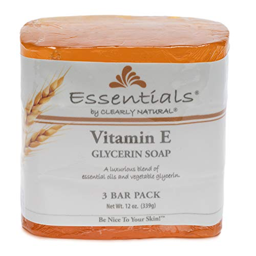 Clearly Natural Glycerine Bar Soaps Vitamin E, Vitamin E 3 Bars by Clearly...