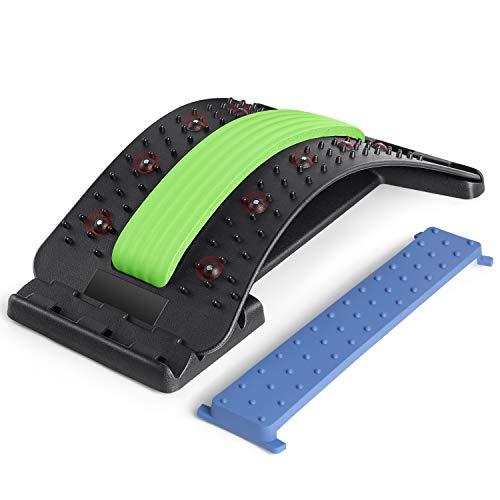 SODOLIFE Rückenstrecker Muskelverspannungen Fitness Back Stretcher 4 Stufen Einstellbar Rückendehner Rückenmassage Unterstützung Gerät zur Haltungskorrektur und Rückenschmerzlinderung