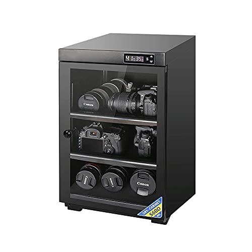 Armadio di essiccazione con essiccante della fotocamera, 60L / 80L, scatola di conservazione silenziosa a risparmio energetico per uso domestico, ripiano regolabile, scatola a prova di umidità /